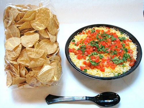 7 Layer Dip with Chips